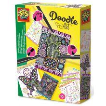 Lag selv Doodle-kort, 12 stk.