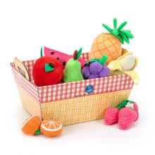 Lekemat i plysj - Fruktkurv