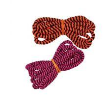 Hoppestrikk med sorte striper, 5 meter