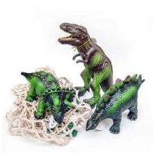 Dyr i 100 % naturgummi - Dinosaurer, 3 stk