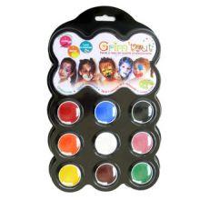 Ansiktsmaling - Palett med 9 farger