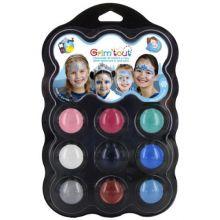 Ansiktsfarge - Palett med 9 farger - Vinter