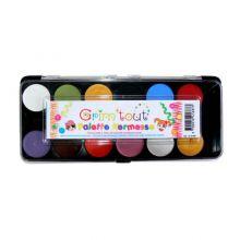 Ansiktsfarge - Palett med 12 farger