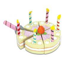 Lekemat - Bursdagskake i tre med lys