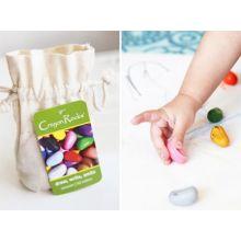 Fargekritt - Crayon Rocks 8 stk i stoffpose