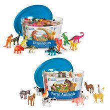 Tell & Sorter - Bondegårdsdyr eller Dinosaurer