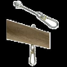 Husketilbehør - Krok med karabin, 160 mm