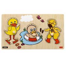 Knappepuslespill -Bamse & Kylling