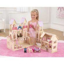 Prinsesseslott med dukker