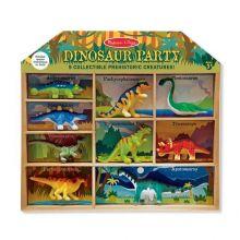 Dinosaurer i kasse - 9 stk.