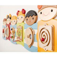 Veggpanel - Søte Barn, 7 paneler