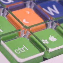 Tastatur Clevy special store og små bogstaver keyboard til