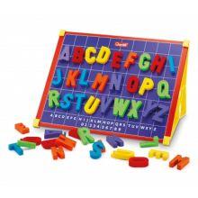 Magnettavle med bokstaver, inkl. æ, ø, å