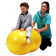 Gymnastikkball oval 55 cm gul