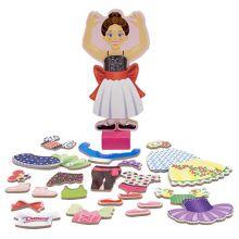 Magnetisk påkledingsdukke, ballerina