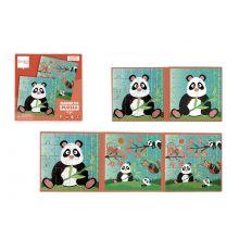 Magnetpuslespill i bok - Panda