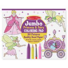Malebok - Jumbo med prinsesser og feer