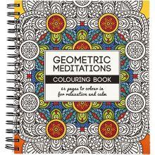 Malebok Mindfulness - Geometrisk, 64 sider
