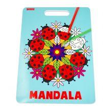 Malebok Mandala m. håndtak - Marihøner