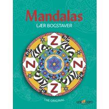 Mandalas malebok - Lær bokstaver