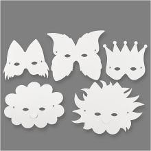 Masker i papp, 5 stk