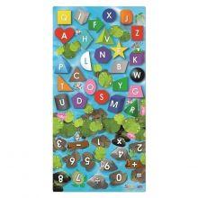 Læringsteppe - Form, farge, tall + bokstaver