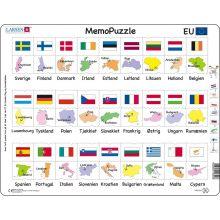 Memo Puslespill - Land og Flagg