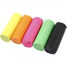 Modellervoks Soft Clay - Neonfarger, 400 gr.