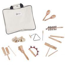 Perkusjonssett med 9 instrumenter