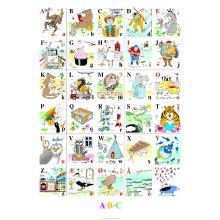 Plakat 50 x 70 cm. - ABC