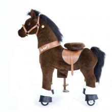 Ri Selv - Hest, mørkebrun m. hvitt bliss, Medium