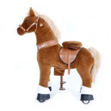 Ri Selv - Hest, lysebrun m. hvitt bliss, Small