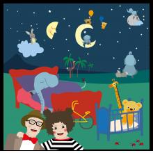 Popsi og Krelle Megakort - Godnatt