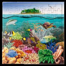 Interaktivt puslespill m. 81 brikker - Korallrev