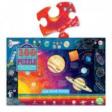 Puslespill m. 100 brikker - Solsystemet