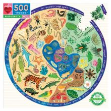 Puslespill m. 500 brikker - Biodiversitet