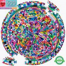 Puslespill m. 500 brikker - Geometrisk mønster
