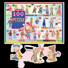 Puslespill med 100 brikker - Verdens barn