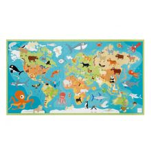 Puslespill til gulv, 100 brikker - Verdens dyr