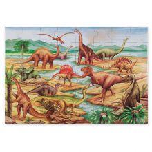 Puslespill til gulvet - 48 brikker Dinosaurer