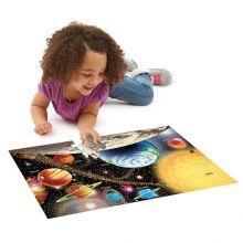 Puslespill til gulvet - 48 brikker Solsystem