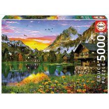 Puslespill m. 5.000 brikker - Alpene