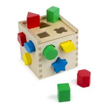 Puttekasse med geometriske klosser