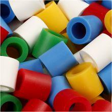 Rørperler maxi - Basisfarger, 550 stk.