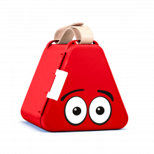 Teebee oppbevaringsboks inkl. tegnesaker - Rød
