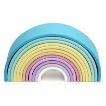 Regnbue i silikone - Pastellfarger, 12 deler