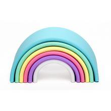 Regnbue i silikone - Pastellfarger, 6 deler