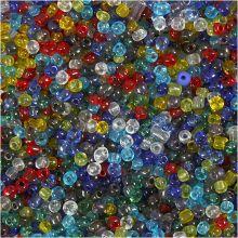 Rocaiperler Ø4 mm - Transparent, 1.000 gr.