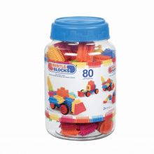 Samleklosser - Bristle Blocks, 80 stk