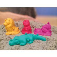 Sandformer - 3D-figurer, Sett med 4 stk.